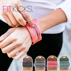 【メール便可】 FITKICKS フィットキックス リストウォレット ポケット付きリストバンド マラソン ランニング ジョギング カギ リストバンド|a-base