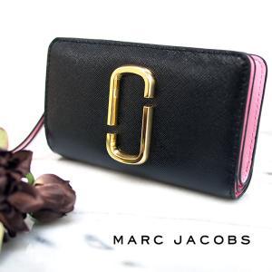 MARC JACOBS マークジェイコブス 二つ折り財布 M0014281 NEW BLACK MULTI L時ファスナー ミニ財布 レディース|a-base
