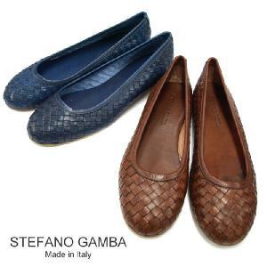 STEFANO GAMBA ステファノガンバ 7170 イントレチャート パンプス 全2色 コニャック/ネイビーブルー 【送料無料】|a-base