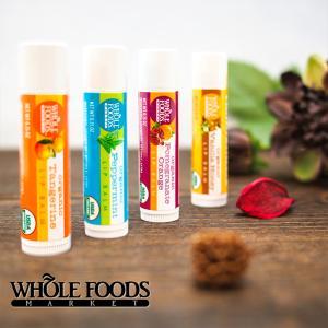 【メール便可】 Whole Foods Market ホールフーズマーケット リップバーム 4.25g 4フレーバー a-base