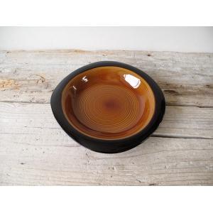 カフェ・ド・シック プレート (S-ブラウン) cafe de chic plate (S-BR) ブラックが効いたシックなプレート。インテリアにも最適!|a-depeche