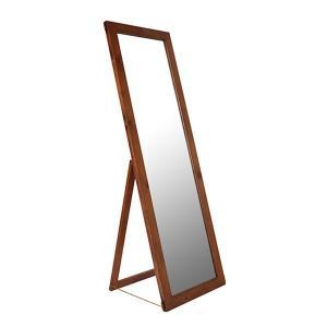 姿見 木製  『コンテ・ライム スタンドミラー M』カントリー 西海岸 カフェ風 大型ミラー 全身鏡 ブラウン ビンテージ感 レトロ アデペシュ 150cm|a-depeche