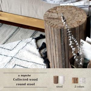 『予約受付中』コレクトウッド ラウンドスツール 木製の椅子 花台として、スツールとして、ディスプレイ用として。『送料無料』|a-depeche