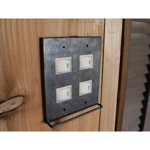 アイアン ハングバー スイッチプレート 4口 iron hang bar switch plate 4口 S字フックで鍵などを掛けれる機能的なスイッチカバー|a-depeche