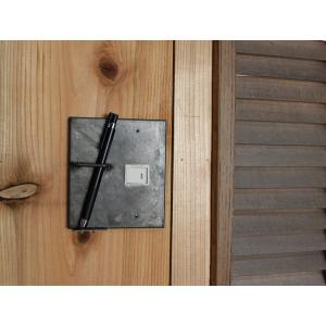 アイアン ペンホルダー スイッチプレート 1口 iron pen holder switch plate 1口 ペンも収納できる機能的なスイッチプレート|a-depeche