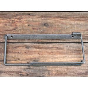 iron paper holder(L) アイアン ペーパーホルダー(L) クリア アイアンのちょっと変わったペーパーホルダー|a-depeche