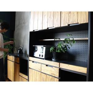 食器棚 モダージュキッチンボード 1200 木の質感が美しいモダンなキッチンボード|a-depeche