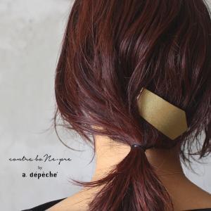 ヘアアクセサリー コーム  『ミュゼリ ヘアコーム トゥリーブ』ヘアコーム コーム型 ヘアアクセ おしゃれ シンプル ゴールド 髪飾り かんざし 真鍮 きれいめ|a-depeche