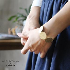 バングル レディース  『ロチカ サークル バングル』太め ゴールド 真鍮 きれいめ 大人カジュアル アクセサリー ブレスレット ブラス 手作り|a-depeche