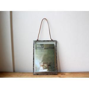 rustic steel photo frame(L) ラスティックスチールフォトフレーム(L) 無骨な風合いがめずらしいフォトフレーム|a-depeche