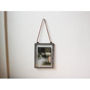 rustic steel photo frame(M) ラスティックスチールフォトフレーム(M) 無骨な風合いがめずらしいフォトフレーム a-depeche