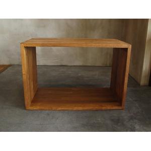 シュウセイ ボックスシェルフ 600 ブラウン SHUSEI box shelf 600 無垢の質感が使っていて心地良い木製ボックス|a-depeche