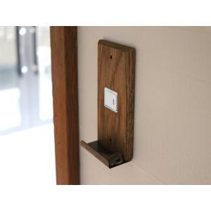 ウッド アイアントレイ  スイッチプレート 1口 wood iron tray switch plate 1口 スイッチの周りもおしゃれにするスイッチカバー|a-depeche