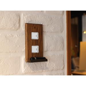 ウッド アイアントレイ  スイッチプレート 2口 wood iron tray switch plate 2口 スイッチの周りもおしゃれにするスイッチカバー|a-depeche