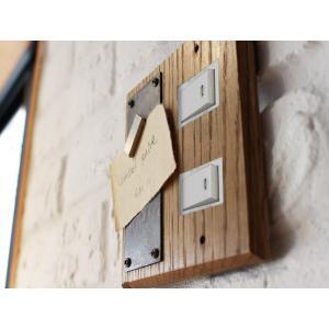 ウッドペーストマグネットスイッチプレート 2口 wood paste magnet switch plate 2口 小さなわがままをかなえるスイッチプレート|a-depeche