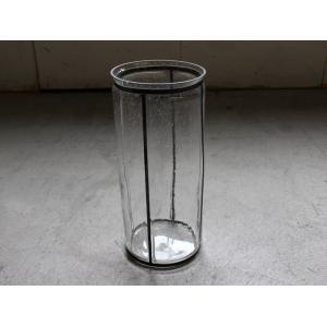 バブルガラス アイアンライン フラワーベース(L) アイアンとガラスの対比が美しいシンプルな花瓶|a-depeche