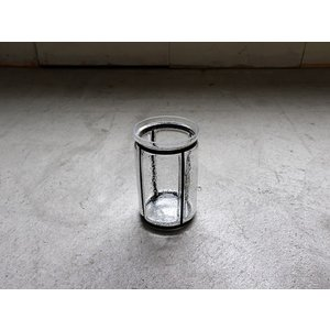 バブルガラス アイアンライン フラワーベース(S) アイアンとガラスの対比が美しいシンプルな花瓶|a-depeche