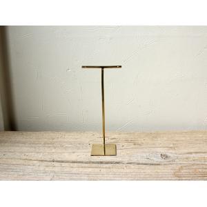 ブラス アクセサリースタンド(L)シンプルな真鍮製のピアススタンド|a-depeche