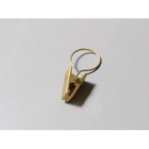 ブラス リングクリップ 6個入り アンティークな雰囲気のブラス製 クリップハンガー|a-depeche