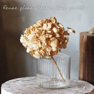 Horn Please リユーズガラス クーレライン フラワーベース パース  花瓶 高さ11cm ストライプ 透明 372147|a-depeche