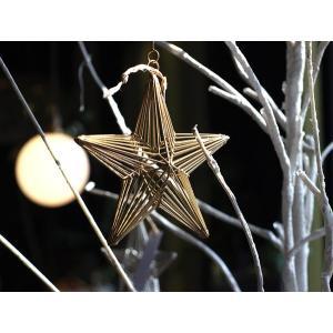 ワイヤー オーナメント スター 他のアイテムも引き立てるクリスマスの飾りに使いたい繊細なデザインのオーナメント|a-depeche