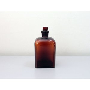 チェコ/角型試薬瓶 ブラウン 中古 (500ml)|a-depeche