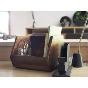 デスク オーガナイザースタッキングボックス シーシャムウッドのナチュラルなスタッキングボックス|a-depeche