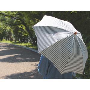日傘 リネンパラソル 『折りたたみ 細ストライプ』SUR MER シュールメール天然素材を使用したナチュラルな日本製折りたたみ日傘 送料無料|a-depeche