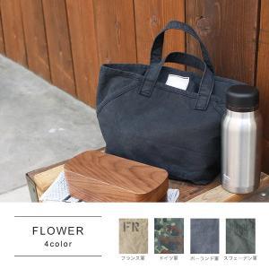FLOWER 軍用のテントをリメイクして作られたトートバッグ|a-depeche