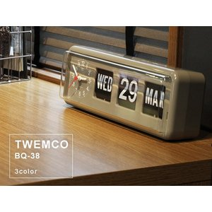 TWEMCO/トゥエンコ BQ-38 置時計としても掛け時計としても使えるカレンダー付きのクロック|a-depeche