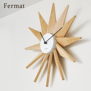 インターフォルム 壁掛け時計 フェルマー 木製 放射状 静音 連続秒針 直径40cm ブラック ホワイト interform Fermat CL-3023 取り寄せ商品|a-depeche