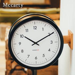 インターフォルム 両面時計 マッカーティ 丸型 壁掛け 静音 連続秒針 44cm ブラック interform Mccarty CL-3276 送料無料 取り寄せ商品|a-depeche