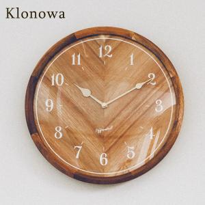 インターフォルム 壁掛け時計 クロノワ 木製 丸型 静音 連続秒針 直径32cm ブラウン interform Klonowa CL-3850 取り寄せ商品|a-depeche