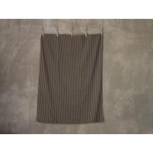 THE STRIPES カーテン/スロウ 105×135 ブラウン×インディゴ ソファーカバー、ベッドカバー、テーブルクロスとしても使えるカーテン|a-depeche