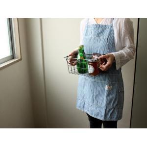ワークエプロン/BasShu ヴィンテージな風合いの生地を贅沢に使用した日本製ストライプツールエプロン|a-depeche