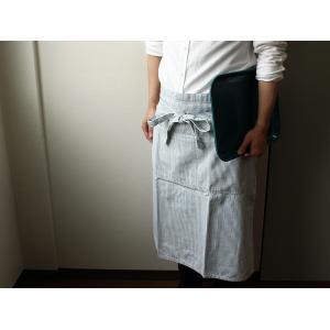 ワークロングエプロン/BasShu ヴィンテージな風合いの生地を贅沢に使用した日本製ストライプツールエプロン|a-depeche