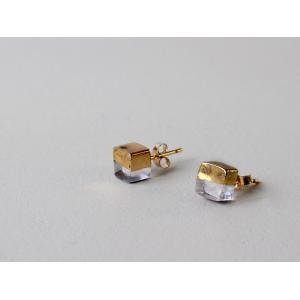 ピアス sorte glass jewelry ピアス SGJ-003P ガラスと金の繊細な組み合わせを楽しむピアス|a-depeche