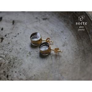 sorte glass jewelry ピアス SGJ-007P ガラスと金の繊細な組み合わせを楽しむピアス|a-depeche