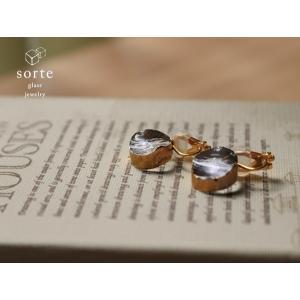 sorte glass jewelry イヤリング SGJ-008E ガラスと金の繊細な組み合わせを楽しむイヤリング|a-depeche