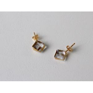 sorte glass jewelry ピアス SGJ-009P ガラスと金の繊細な組み合わせを楽しむピアス|a-depeche