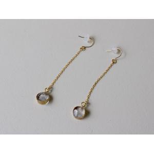 sorte glass jewelry ピアス SGJ-019P ガラスと金の繊細な組み合わせを楽しむピアス|a-depeche