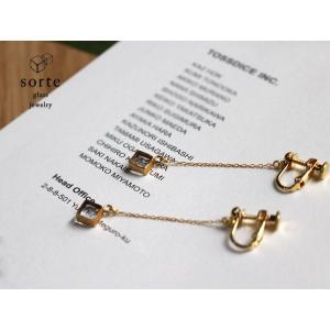 sorte glass jewelry イヤリング SGJ-020E ガラスと金の繊細な組み合わせを楽しむイヤリング|a-depeche