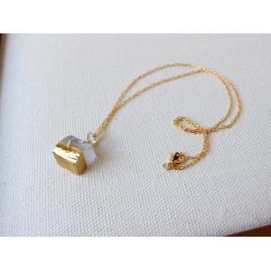 ネックレス sorte glass jewelry ネックレス SGJ-021SQ ガラスと金の繊細な組み合わせを楽しむネックレス|a-depeche
