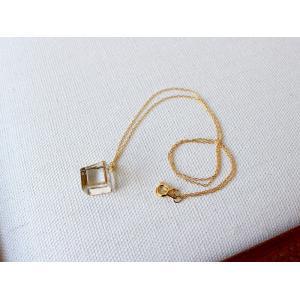 ネックレス sorte glass jewelry ネックレス SGJ-023 ガラスと金の繊細な組み合わせを楽しむネックレス|a-depeche