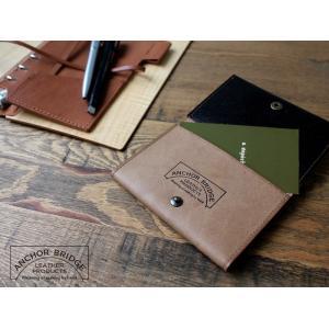 カードケース 『チョコ』ANCHOR BRIDGE こだわりの革を使用した手作りの名刺入れ|a-depeche
