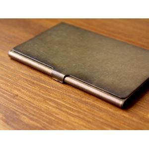 ブラスカードケース(錆)真鍮無垢で作られたシンプルなカードケース 日本製|a-depeche
