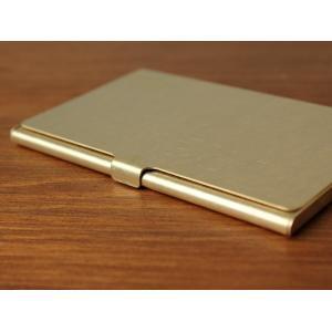 ブラスカードケース(無垢) 真鍮無垢で作られたシンプルなカードケース 日本製|a-depeche