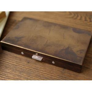 ブラスボックスカードケース(錆) 真鍮無垢で作られたシンプルなカードケース 日本製|a-depeche