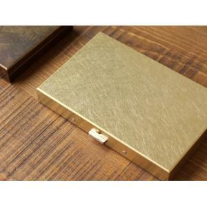 ブラスボックスカードケース(無垢) 真鍮無垢で作られたシンプルなカードケース 日本製|a-depeche