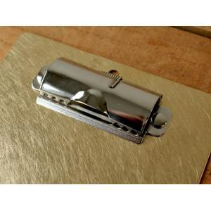 ブラスクリップボード(無垢) 真鍮無垢で作られたシンプルなクリップボード 伝票用 日本製|a-depeche